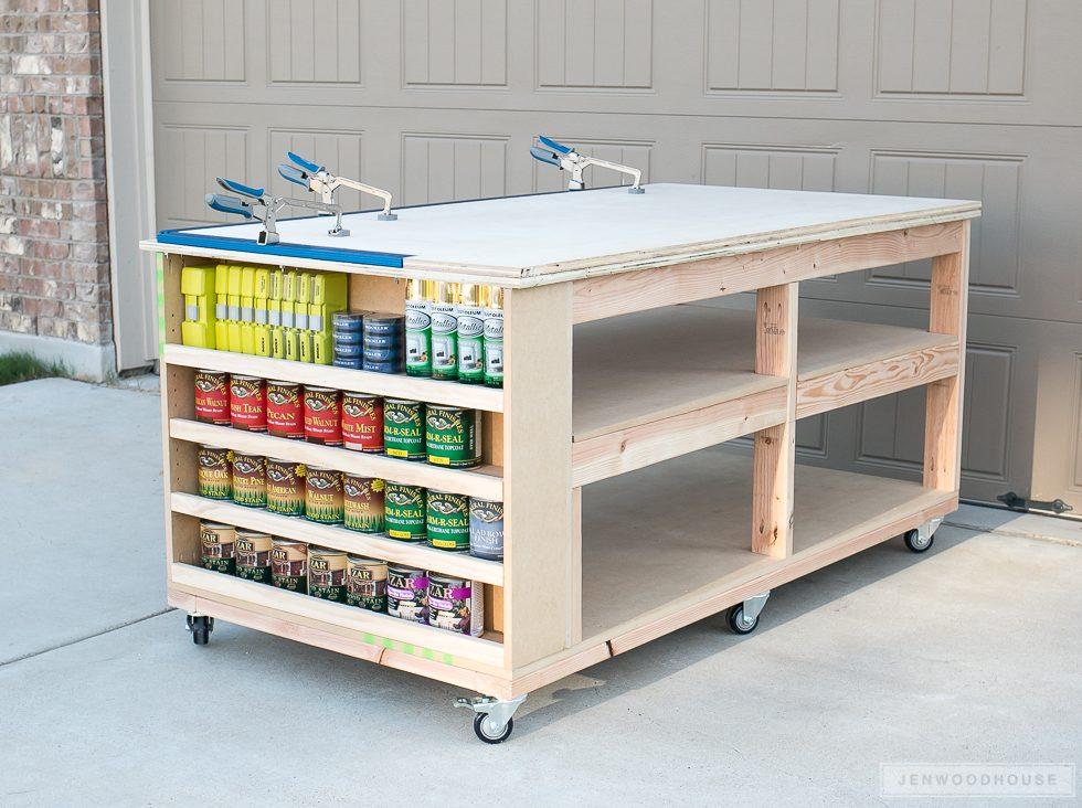 Workbench With Storage Shelves Spruc D Market