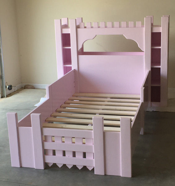 Castle princess bed spruc d market for Princess bed blueprints