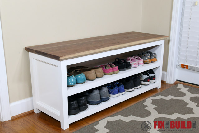 About The Plan Build This Adjule Shoe Storage Bench