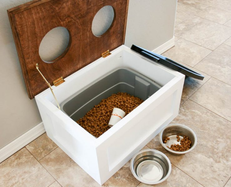 Keep Your Dog S Food Hidden In Plain Sight With This Station Storage These Pdf Plans Include The Materials List Cut