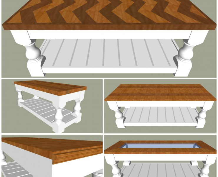 Chunky Leg Bench Coffee Table Plan Spruc D Market