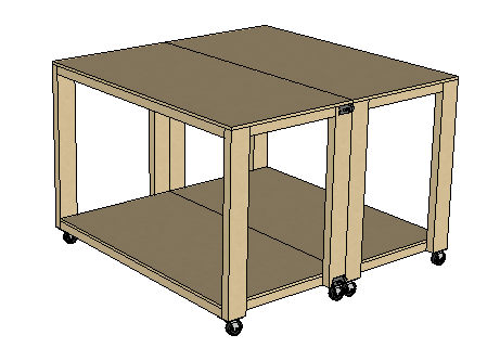 Convertible 4' x 4' Workbench - Spruc*d Market