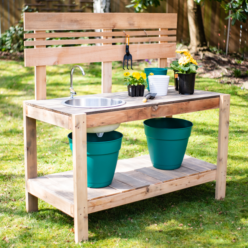 Potting Bench With Optional Sink Spruc D Market
