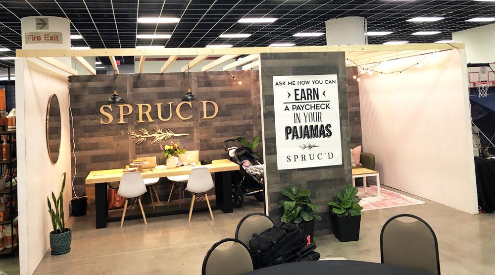 Spruc'd Trade Show Booth Design - Spruc*d Market