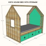 Kids Bed Plans House Bed Plans