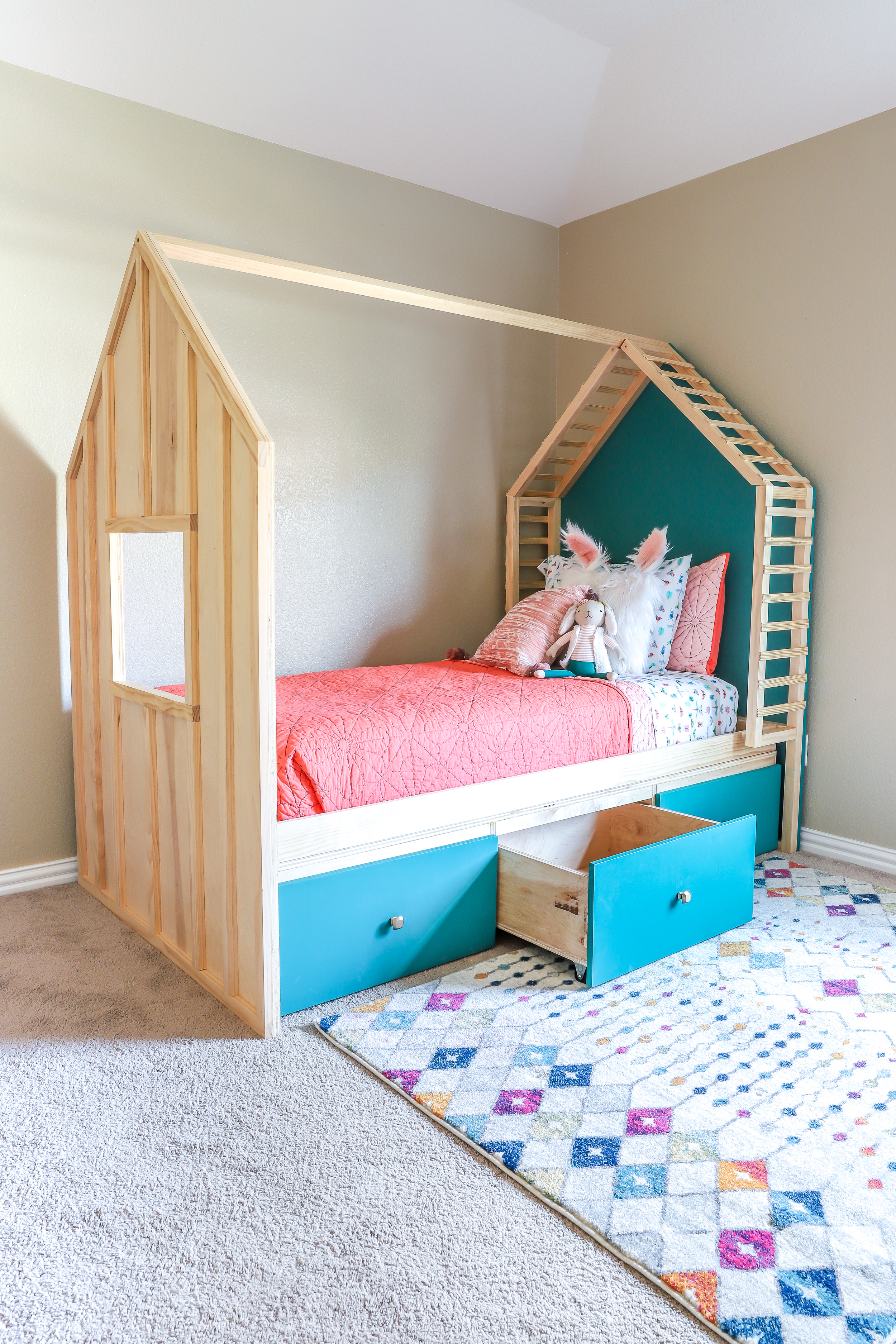 Kids Bed House bed with storage