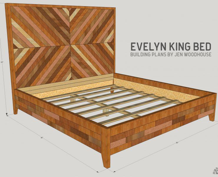 chevron reclaimed wood bed spruc d market