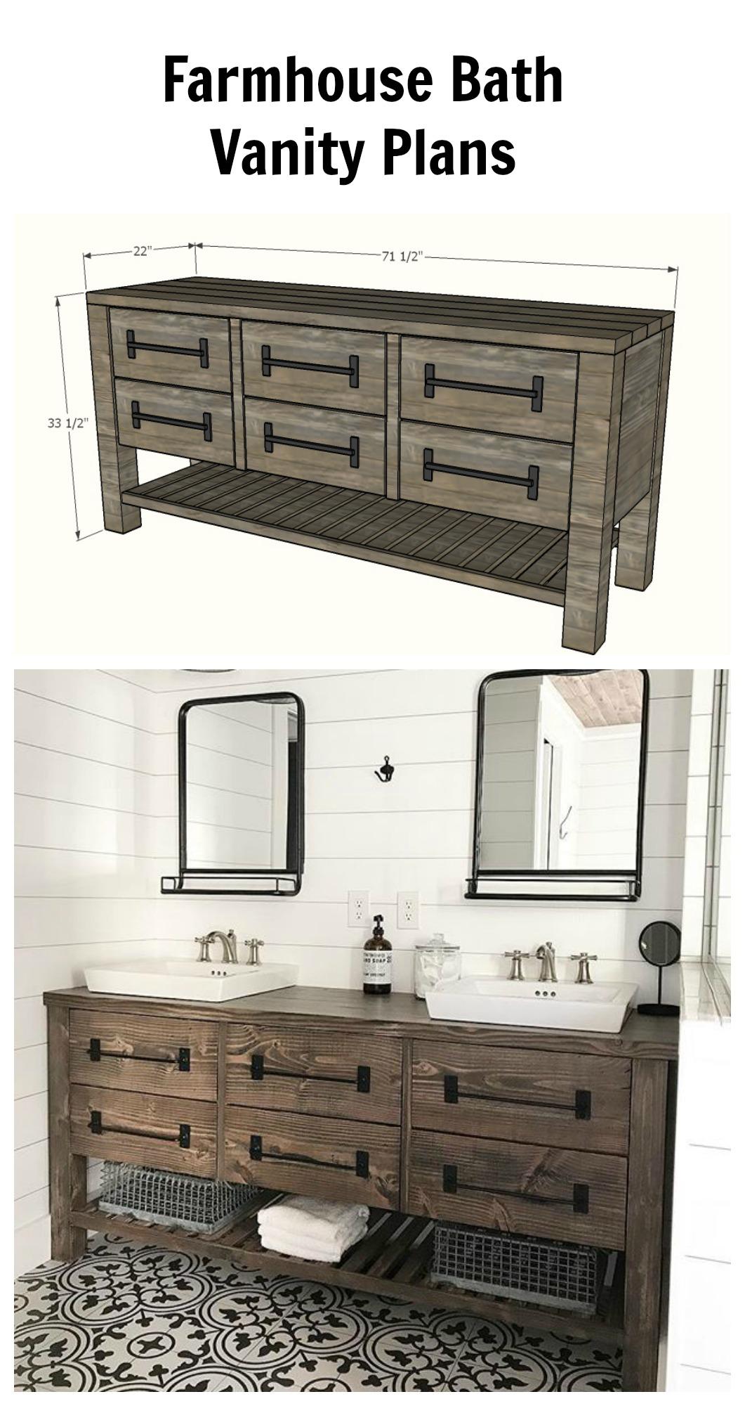 Modern Farmhouse Bathroom Vanity 48 Image Of Bathroom And Closet