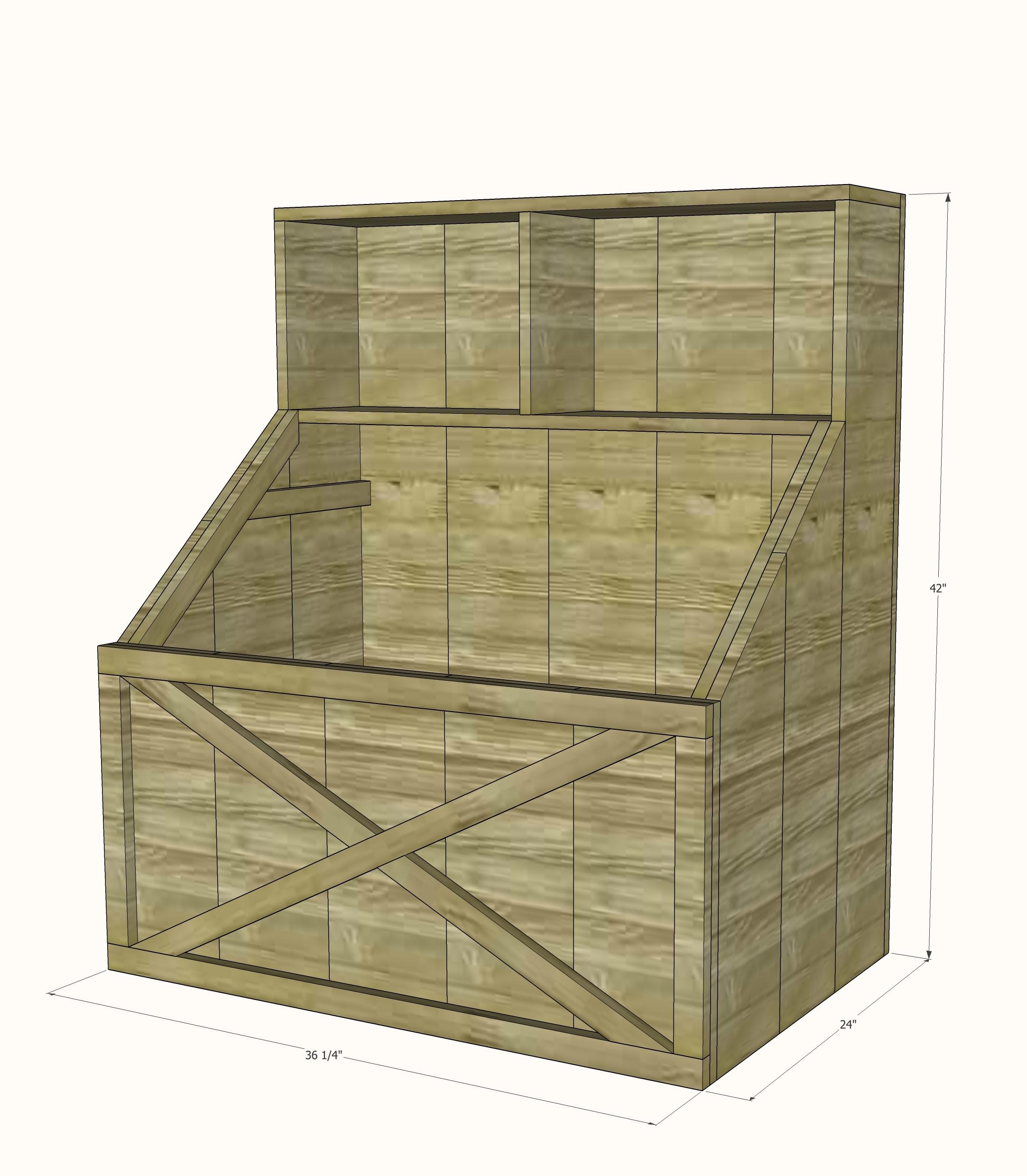 rustic slanted toy box - spruc*d market